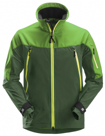 Snickers 1940 FlexiWork Softshell Stretch Jacket (Apple Green / Forest Green)